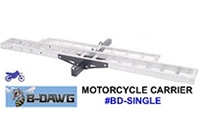 B-Dawg BD-Single Motorcycle Hitch Carrier Rack with ramp
