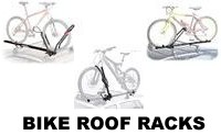 Bike Roof Rack attachments and carriers that hold the bicycle by the front forks or wheels