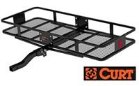 "Curt 18153 Large Folding Hitch Cargo Carrier Basket 24"" x 60"" x6"""