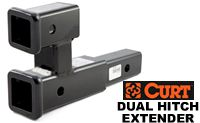 Curt D-192 DUal 2 inch hitch extender for towing and carrying bike racks