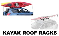Kayak Roof Rack Carrier Attachments from Thule, Yakima, Malone and Sportrack
