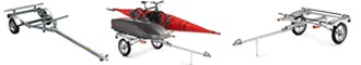 Kayak trailers - Cnaoe and boat multi-purpose sport trailers that also carry bikes, skis and cargo boxes.