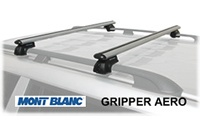 Mont Blanc AeroWing Gripper Roof Rack Crossbras: MB3747-AW locking, removable railing mount cross bars