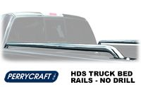 Perrycraft HDS Stainless Steel Pickup Truck Tubular Bed Rails - Stake Pocket Mounting