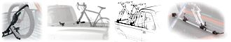 Thule and Yakima Pickup truck bed mounted bike racks and bicycle carriers.