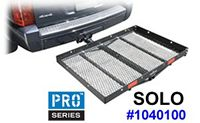 "Pro-Series Solo 1040100 Hitch cargo carrier platform with large 48"" x 32"" deck"