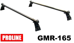 Proline Rain Gutter Roof Rack Package - tool free installation for cars with external rain gutter channels