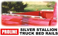 Proline Silver Stallion Truck Bed Rails - Polished Aluminum Side Rails