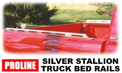 Proline Silver Stallion pickup truck slotted side bed rails