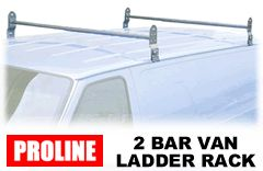Proline Van Ladder Rain Gutter Roof Racks - Contractor roof racks
