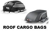 Car Roof Cargo Bags - Soft Sided Luggage Bags - Thule Quest and Tahoe, Yakima GetOut, Highland KarPak and SportRack Sherpa