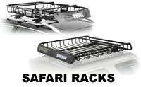 Safari Roof Basket Racks for car roof mounting - Yakima Megawarrior, Thule MOAB and Yakima Load Warrior