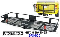 SportRack SR9850 Folding Hitch Mounted Cargo Basket Carrier - Product Image