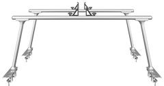 Thule TracRac TracOne 27000XT Silver Pickup Truck Bed Rack - Product Image