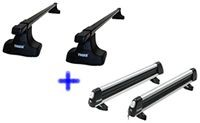 Thule Traverse Roof Rack and Ski Rack Bundle - Product Image