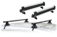 Universal Roof Rack & Thule Flattop 6 91725U ski rack package - Product Image