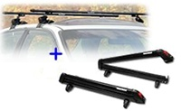Universal Roof Rack &Yakima Big Powderhound ski rack package - Product Image