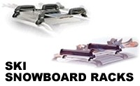 Car Roof Ski Racks and Snowboard Carrier attachments