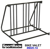 sportrack bsr10 indoor and outdoor bike valet storage rack - Indoor Bike Rack