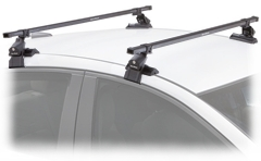 SportRack Frontier Car Roof top base rack package with locks for cars with no rain gutters
