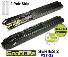 Sportube Series 2 Ski Hardshell travel case.