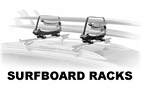 Surfboard roof racks carriers and SUP - sailboard foam pads for car cross bars