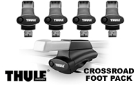 Thule 450 Crossroad Foot Pack - Set of 4 clamping feet and 4 end caps for load bars