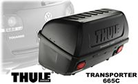 "Thule Transporter 665C hitch cargo box with tilt down feature for easy car access fits both 1.25"" and 2""  hitch"