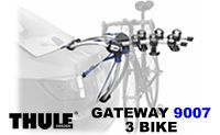 Thule 9007 Gateway Car Trunk 3 Bike Racks
