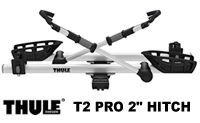 "Thule T2 Pro model 9034 2 Bike Folding 2"" Hitch Platform style bicycle racks"