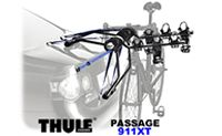 Thule 911XT Passage 3 Bike Trunk Racks and Reas Car Door or tailgate mounted bicycle carriers.