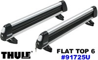 Thule Flattop 6 pair ski rack and 4 snowboard carrier model 91725U