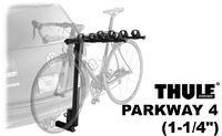 Thule 957 Parkway Hanging Hitch Mount 4 Bike Racks that tilt away from the car