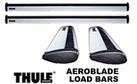 Thule AeroBlade Load Bars: Quiet, aerodynamic roof rack load bars - pair of ARB43, ARB47, ARB53 or ARB60 roof rack crossbars