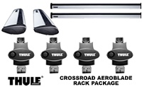 Thule 450R Rapid Crossroad AeroBlade Roof Rack Package and Foot Pack, aero blade load bars and locks