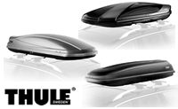 Thule rooftop ski boxes and snowboard car top cargo carriers