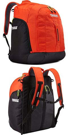 Thule Roundtrip Boot Bag Black and Orange
