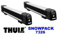 Thule 7326 Snow Pack 6 pair ski racks and snowboard carrier for roof rack attachment