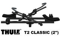"Thule T2 Classic model 9044 2 Bike Folding 2"" Hitch Platform style bicycle racks"