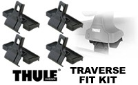 Thule Traverse Fit Kit : custom mounting brackets and foot pads for Traverse and Rapid Traverse roof racks