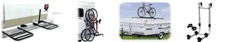Trailer mount and RV Ladder mounted bicycle racks and carriers