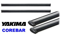 "Yakima CoreBar Crossbars for Roof Racks: aerodynamic rooftop carrier load bars in 50"", 60"" and 70"" lengths."