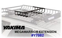 Yakima MegaWarrior Extension 8007082 : Yakima Mega Warrior Gear Roof Basket Extension