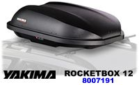 Yakima RocketBox 12 car roof cargo box model 8007191. Yakima Rocket Box luggage carriers.