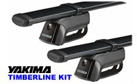Yakima RailGrab Roof Rack Crossbars 8000140 package with towers and cross bars
